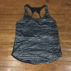 Black white and gray u see armour workout tank